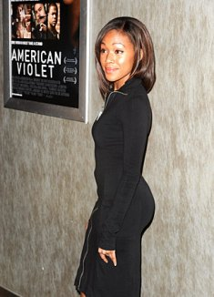 Actress Nicole Beharie arrives at the pr